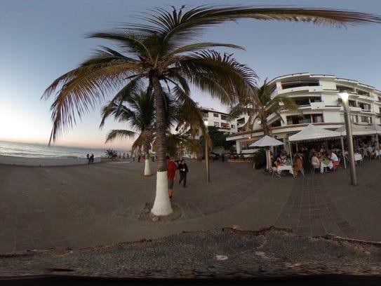 The Malecon in Puerto Vallarta, an oceanfront walkway
