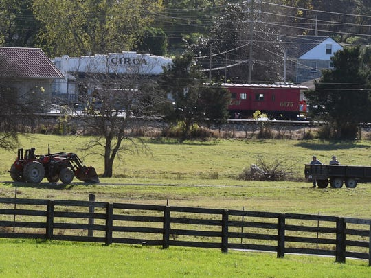 The heart of Thompson's Station includes a town hall and a few historical buildings. Last year Thompson's Station purchased a 104-acre farm behind town hall, which will be used for open space and walking trails.