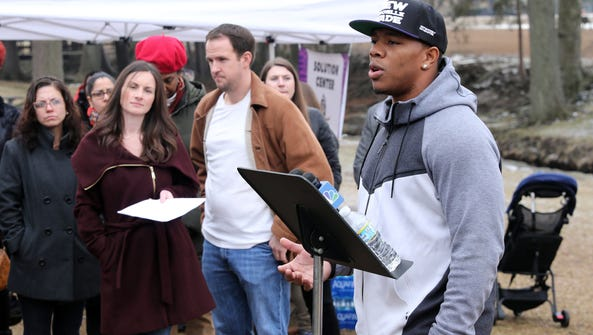 Ray Rice, a former football player with the Baltimore