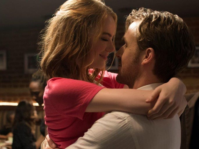 """La La Land,"" starring Emma Stone and Ryan Gosling,"