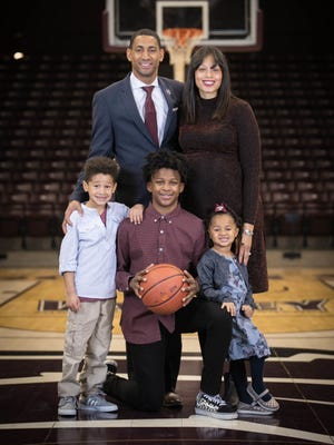 New Men's Basketball Head Coach Dana Ford individual and Family Photos. Photos by Kevin White/Missouri State University