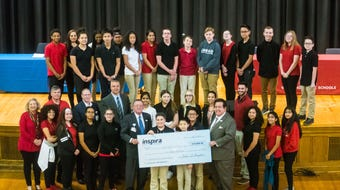 Inspira donated software, training and made a $10,000 investment in Vineland's Applied Math and Science Academy.