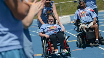 Over 600 athletes competed at the Area 14 Spring games Special Olympics at SWU  in Central on Wednesday, April 18, 2018.