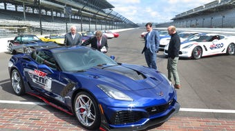 A 755 horsepower Chevrolet Corvette ZR1 was unveiled as the pace car for the 102nd running of the Indianapolis 500.