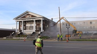 The roof of Immanuel Baptist Temple collapsed shortly after 7 a.m. Saturday morning.