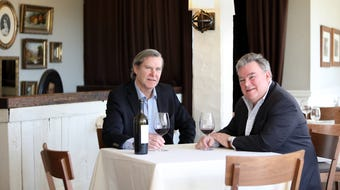 John Crabtree of the Crabtree's Kittle House Restaurant & Inn and chef/owner Peter X. Kelly of Xaviars Restaurant Group talk about being in the the business for 35 years April 24, 2018.