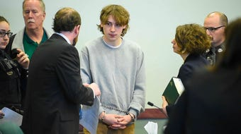 Jack Sawyer, accused of planning a possible school shooting in Fair Haven, is in court Wednesday, April 25, in Rutland.