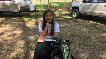 Gracie Sheets, 10,  takes us on a tour of her dirt bike