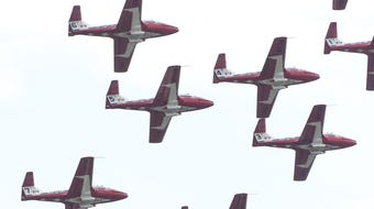 Royal Canadian Air Force Snowbirds performed in Ocean City on Wednesday.