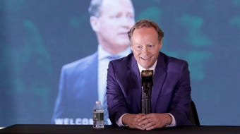 New Milwaukee Bucks head coach Mike Budenholzer talks Giannis, as well as what he thinks of the new arena and the Bucks ownership group.