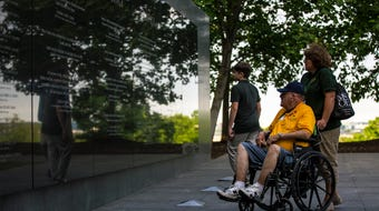 One hundred Vietnam veterans and one World War II veteran visited memorials in Washington, D.C. honoring their service on May 21, 2018.