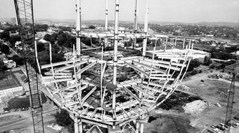 Michael Patrick talks about how he shot a photo of the Sunsphere under construction while suspended 260 feet in the air from a crane.