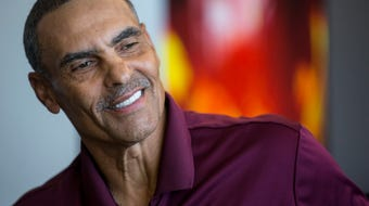 New ASU football head coach Herm Edwards talked about his return to coaching at ASU.