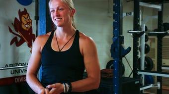Arizona State's Maggie Ewen says her NCAA discus win was the 'peak' of her college career.