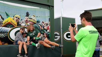 Lambeau Field Live, which features interactive exhibits, will travel to different events throughout the state this summer.