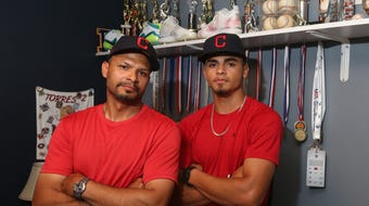 On Sunday, Lenny Torres Jr. will travel with his family to Ohio to sign a professional baseball contract with the Cleveland Indians. That, for Lenny Sr., will be a rare and special Father's Day gift.