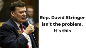 Opinion: Rep. David Stringer isn't the problem. It's that too many white people elect people who believe racist things, columnist EJ Montini says.