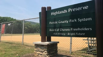 Passaic County officials cut the ribbon on a new pedestrian bridge linking the Highlands Preserve ball fields to a 5-mile trail network and beyond.