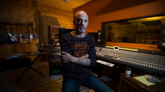 Cape Coral resident Howard Wulkan put his Farmadelica Sound recording studio near Bokeelia on a palm tree farm.