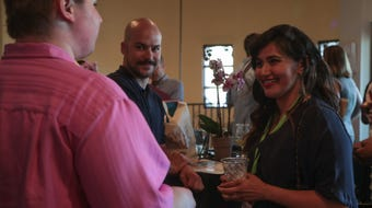 Filmmakers and festival attendees arrive for the Palm Springs International ShortFest