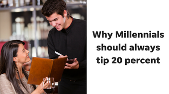 Nearly two-thirds of Millennials don't tip the 20 percent standard at restaurants. That's messed up, columnist Joanna Allhands says.