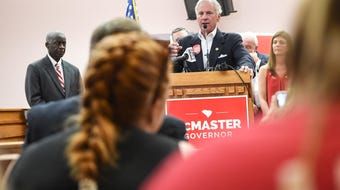 Gov McMaster talks business during Anderson stop