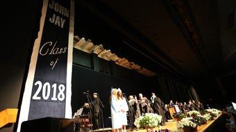 Scenes from John Jay High School's graduation at the Mid-Hudson Civic Center.