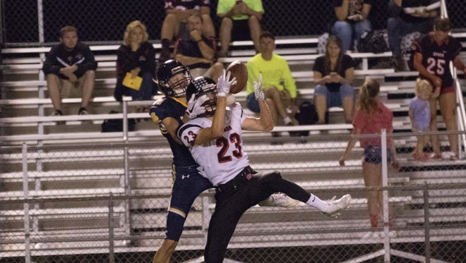 SPASH defensive back Lee Goman had two interceptions in a win over Wausau West at Thom Field on Friday.