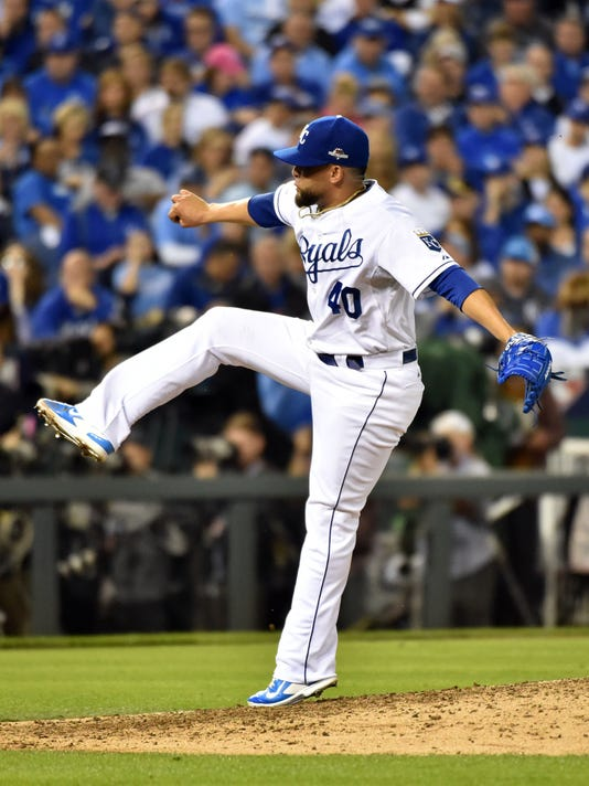USP MLB: ALCS-TORONTO BLUE JAYS AT KANSAS CITY ROY S BBA USA MO