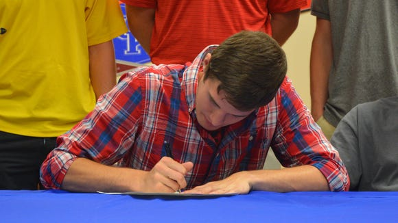 Madison senior Josh Rice has signed to play college basketball for Belmont-Abbey.