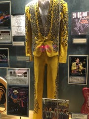 An outfit worn by Buck Owens, on display at the Ryman