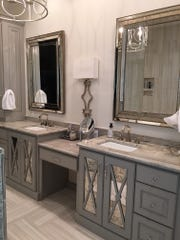 The master bath has stunning finishes and designer