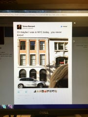 A photo of the now-deleted tweet sent by Teresa Barnwell.