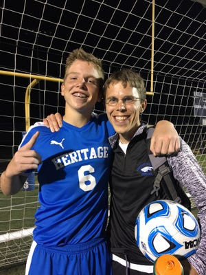 Andrew Williams, with coach Caleb Schnake, skipped anesthesia before a medical procedure so he could play soccer.