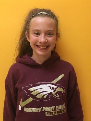 Magdelana Jordan, sixht-grader at Tioughnioga Riverside Academy.