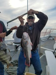 Bill Shetzler of Townsend, Delaware displays his 9.4