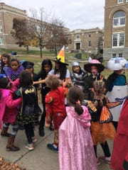 Edmunds Elementary School students gather for the annual parade.