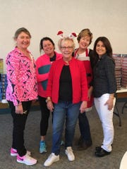 Christmas Basket Program 2016 Co-Chairs (L to R) Lauren Brown, Meg Conroy, Martha Whiting, Katie Nienstedt and Lisa Lemon.