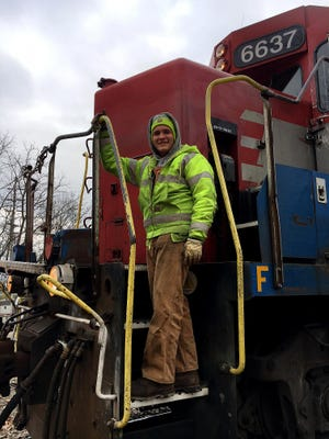 Austin Miller Miller is a freight conductor for the Indiana and Ohio Railway, a subsidiary of the Genesee and Wyoming Railroad.