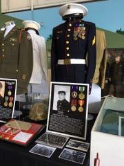 Korean War veteran Al De Vito  donated his Marine Corps dress blues and other wartime memorabilia to teen Will Twomey, whose uniform collection was recently on display at the Palm Springs Air Museum.