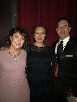 Event chairs Holly Hoffman and Amos Gott take a break with the Belcourt Theatre's Executive Director, Stephanie Silverman