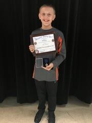 Seventh-grader Adam Lindemann from First German Lutheran