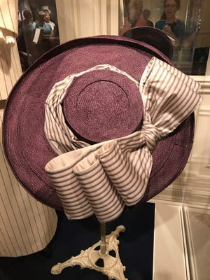 """The large hat Kate Winslet wore in her first scene as Rose in the 1997 """"Titanic"""" is among the costumes on display at Pigeon Forge's Titanic Museum Attraction."""