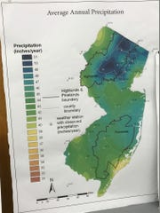 Precipitation totals for New Jersey