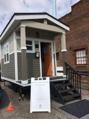 A transitional tiny house built by Joppa volunteers