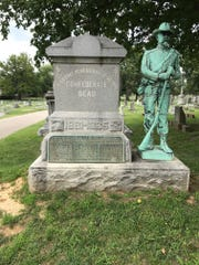A monument remembering 24 dead Confederate prisoners