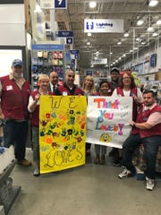 Lowe's Piscataway employees and Boys & Girls Clubs of Union County CEO Russell Triolo kick off the campaign to Build Great Futures Together.