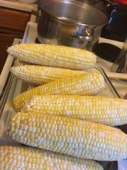 In August, Courtney shucked three dozen corn by herself