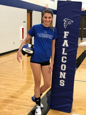 Amherst senior Maizie Berry has led the hitting attack early this season as the Falcons are off to a 4-0 start heading into a tournament in Adams-Friendship on Sept. 9.