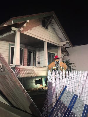 A fire was extinguished Thursday night at this house in the 200 block of Ventura Avenue in Ventura.